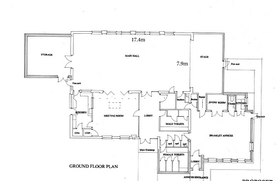 Plan With Main Hall Dimensions